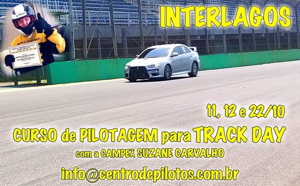 CURSO DE PILOTAGEM DE CARRO PARA TRACK DAY EM INTERLAGOS