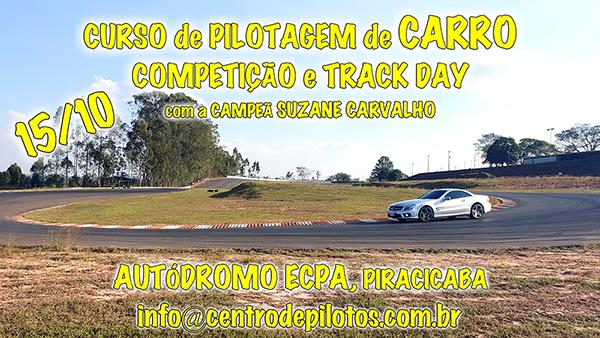 CURSO DE PILOTAGEM DE CARRO PARA TRACK DAY
