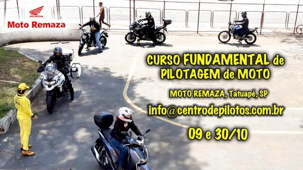 CURSO FUNDAMENTAL DE PILOTAGEM DE MOTO EM SÃO PAULO
