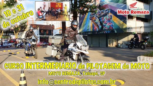 CURSO INTERMEDIÁRIO DE PILOTAGEM DE MOTO EM SÃO PAULO