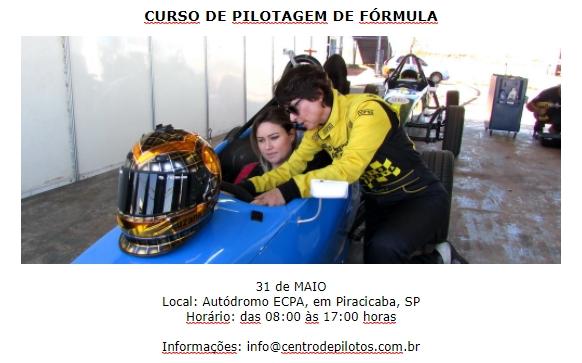 CURSO DE PILOTAGEM DE FÓRMULA!
