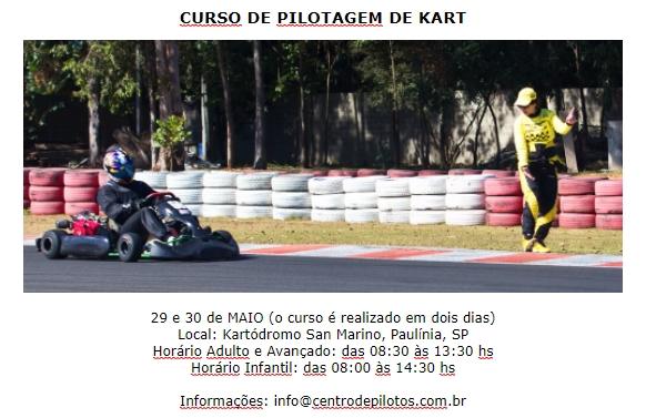 CURSO DE PILOTAGEM DE KART!