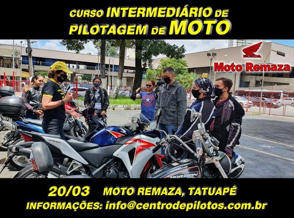 CURSO DE PILOTAGEM DE MOTO NA MOTO REMAZA