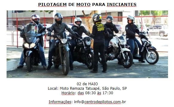 CURSO FUNDAMENTAL DE PILOTAGEM DE MOTO
